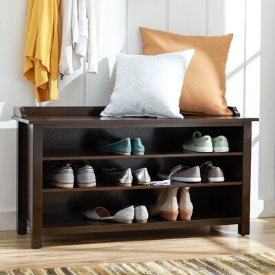 Wood Storage Entryway Bench Color: Espresso