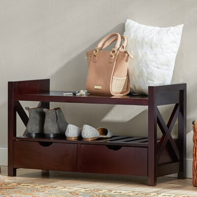 Cyril Storage Entryway Bench Finish: Cherry