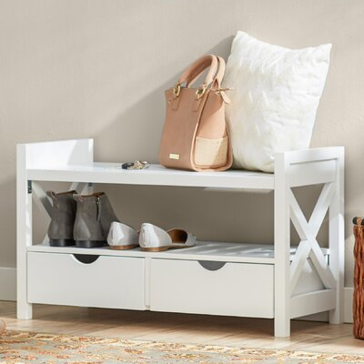 Cyril Storage Entryway Bench Finish: White