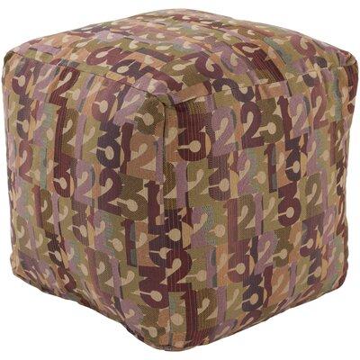 Riverdale Pouf Ottoman Upholstery: Olive