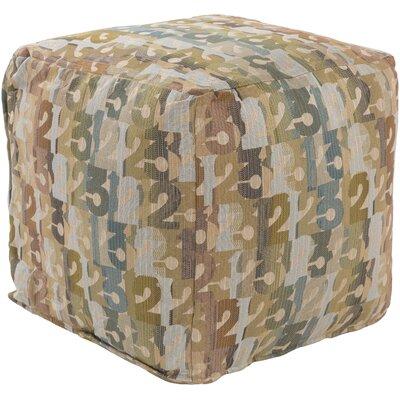 Riverdale Pouf Ottoman Upholstery: Beige