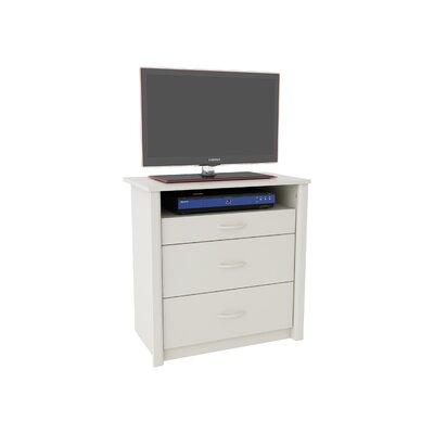 Constance 3 Drawer Media Dresser Color: White Stipple