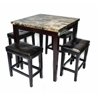Arline 5 Piece Pub Table Set