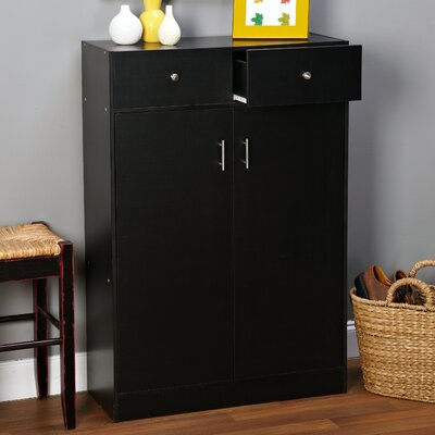 20-Pair Shoe Storage Cabinet Finish: Black