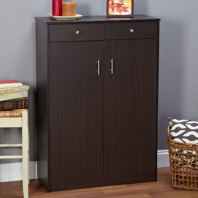 20-Pair Shoe Storage Cabinet Finish: Espresso