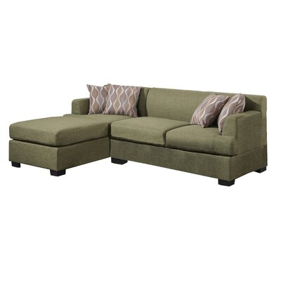 Birchview Reversible Chaise Sectional Upholstery: Peridot