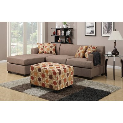 Birchview Reversible Sectional Upholstery: Stone