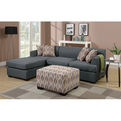 Birchview Functional Reversible Sectional Upholstery: Blue Gray