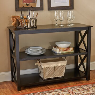 Edmund Console Table Color: Black