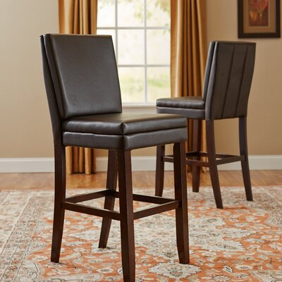 Hudson 30 Bar Stool (Set of 2) Upholstery: Brown