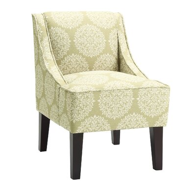 Adams Swoop Slipper Chair Upholstery: Moss