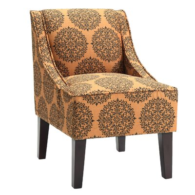 Adams Swoop Slipper Chair Upholstery: Spice