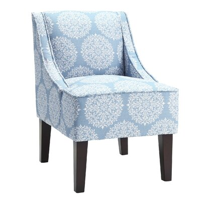 Adams Swoop Slipper Chair Upholstery: Sky