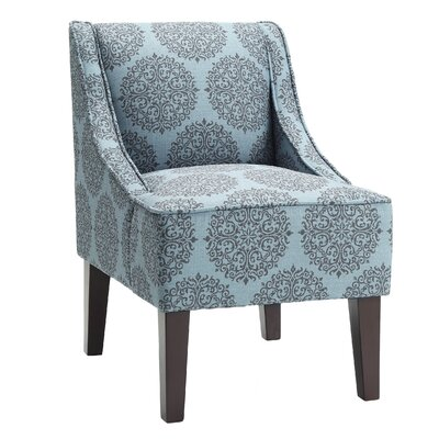 Adams Swoop Slipper Chair Upholstery: Teal