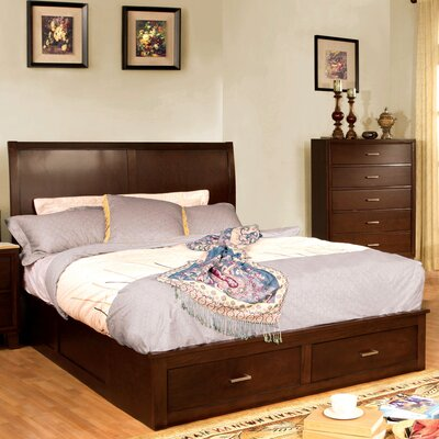 Carpino Brown/Cherry Platform Bed