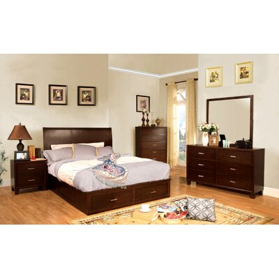 Carpino Cherry Platform Configurable Bedroom Set