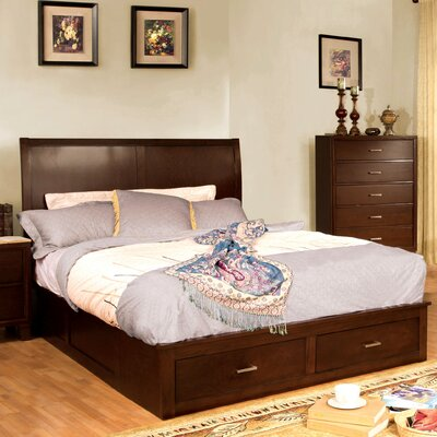 Carpino Cherry Platform Customizable Bedroom Set