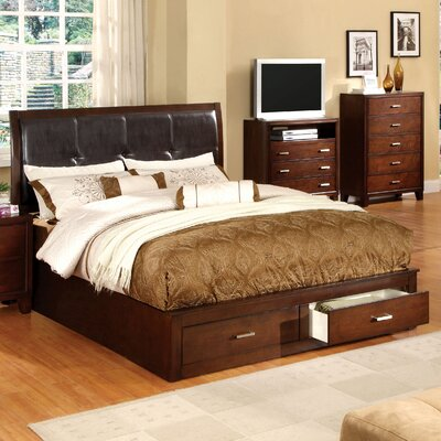 Carpino Cherry Platform Wooden Customizable Bedroom Set