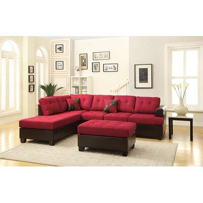 Birchview Reversible Sectional Upholstery: Carmine