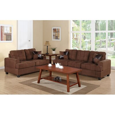 Birchview 5 Piece Living Room Set Upholstery: Chocolate