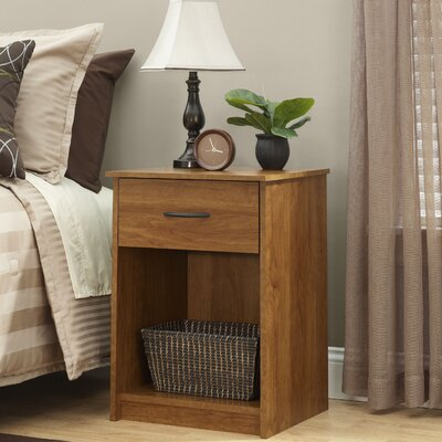 Bowdoin Hill 1 Drawer Nightstand Finish: Bank Alder