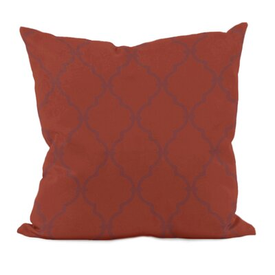 Reuter Trellis Throw Pillow Size: 18 H x 18 W, Color: Picante