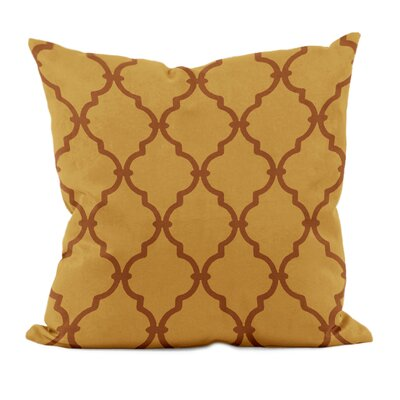 Reuter Trellis Throw Pillow Size: 16 H x 16 W, Color: Ginger