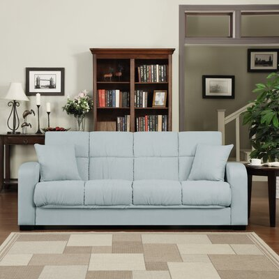 Richardson Full Convertible Sleeper Sofa Upholstery: Sky Blue