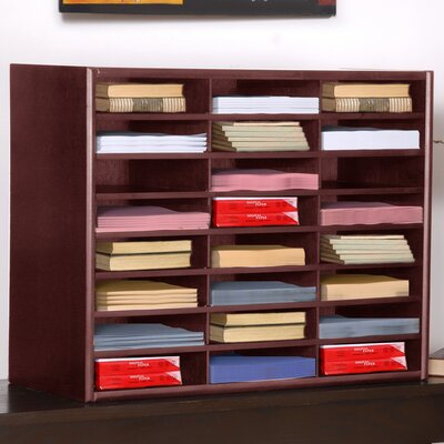 Schneider Compartment Literature Organizer Finish: Cherry