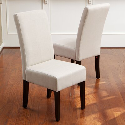 Merrin T-Stitch Upholstered Side Chair Upholstery: Fabric - Natural