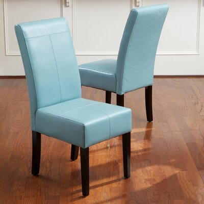 T-Stitch Upholstered Dining Chair Color: Blue