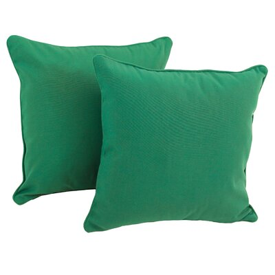 Weymouth Indoor/Outdoor Throw Pillow Color: Emerald