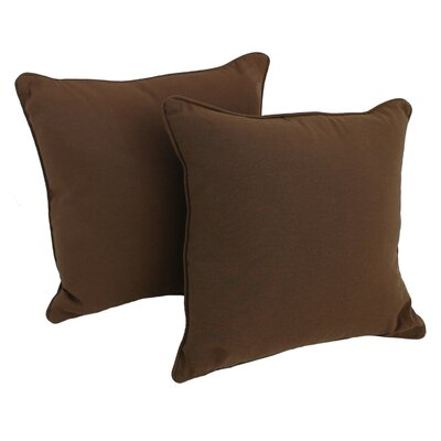 Weymouth Indoor/Outdoor Throw Pillow Color: Chocolate