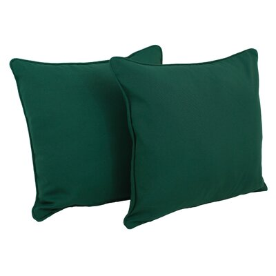 Weymouth Indoor/Outdoor Throw Pillow Color: Forest Green
