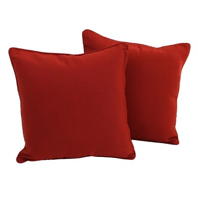 Weymouth Indoor/Outdoor Throw Pillow Color: Ruby Red