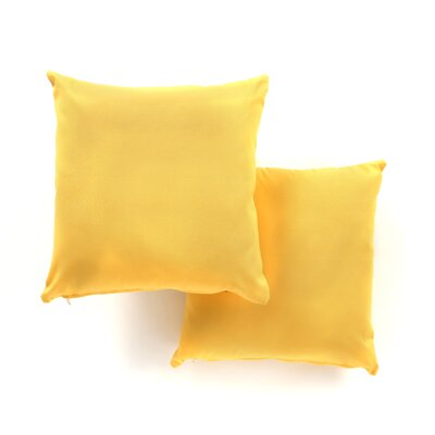 Weymouth Indoor/Outdoor Throw Pillow Color: Yellow