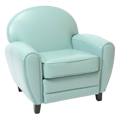 Alden Arm Chair Upholstery: Teal Blue