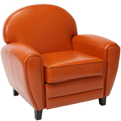 Alden Faux Club Chair Upholstery: Burnt Orange