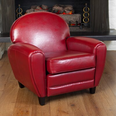 Alden Arm Chair Upholstery: Red