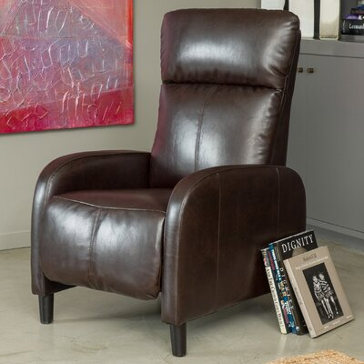 Irwin Recliner Upholstery: Dark Brown