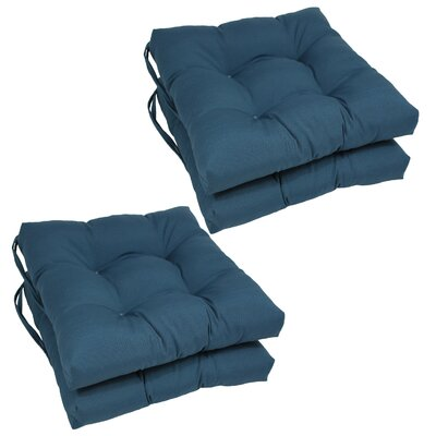 Synthetic Dining Chair Cushion (Set of 4) Color: Indigo