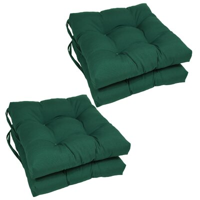 Synthetic Dining Chair Cushion (Set of 4) Color: Forest Green