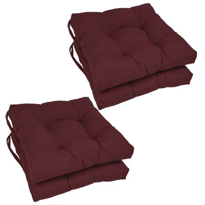 Dining Chair Cushion  Color: Burgundy