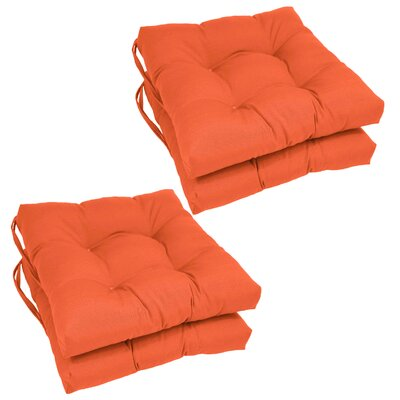 Synthetic Dining Chair Cushion (Set of 4) Color: Tangerine Dream