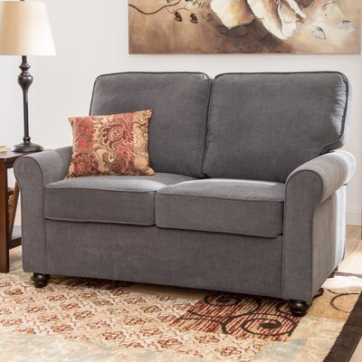 Lucien Loveseat Upholstery: Steel