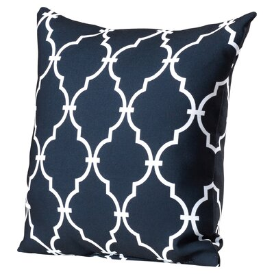 Reuter Trellis Polyester Throw Pillow Color: Black, Size: 18 H x 18 W