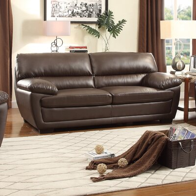 Kerrick Sofa Upholstery: Dark Brown