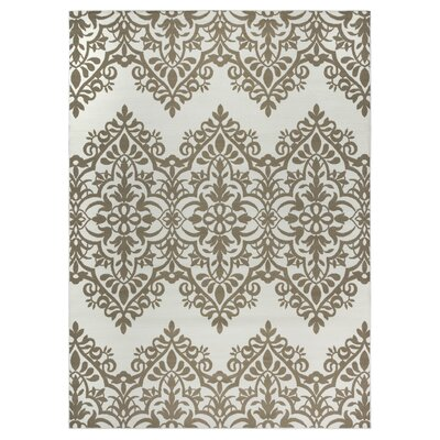 Pearl Ivory Indoor/Outdoor Area Rug Rug Size: 33 x 53