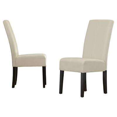 Merrin T-Stitch Upholstered Dining Chair Color: Natural