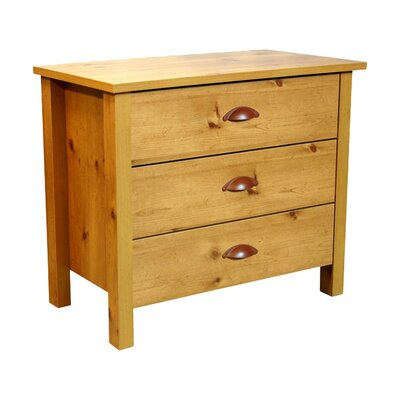 Alonesos 3 Drawer Chest Color: Oak